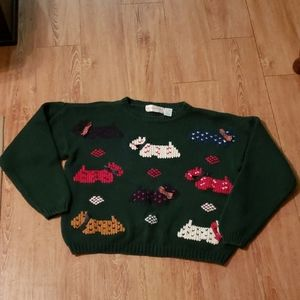Vintage cropped Christmas sweater